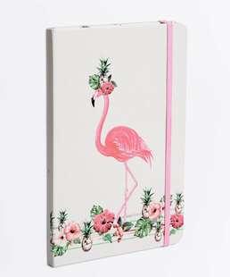 Caderneta Anotações Estampa Flamingo Marisa