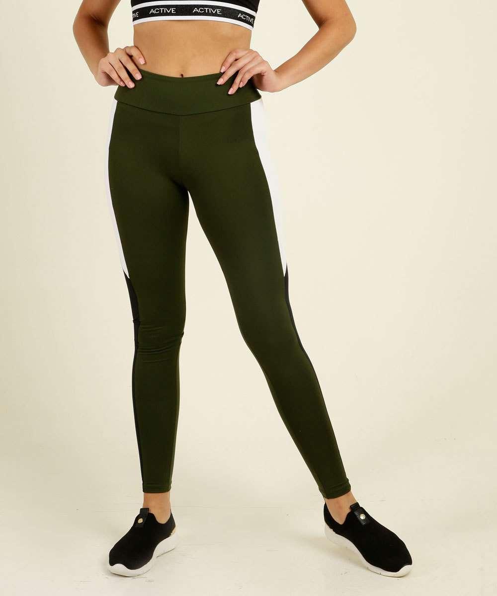 Calça Feminina Legging Fitness Recorte Marisa