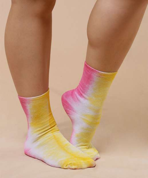 Image_Meia Feminina Soquete Tie Dye