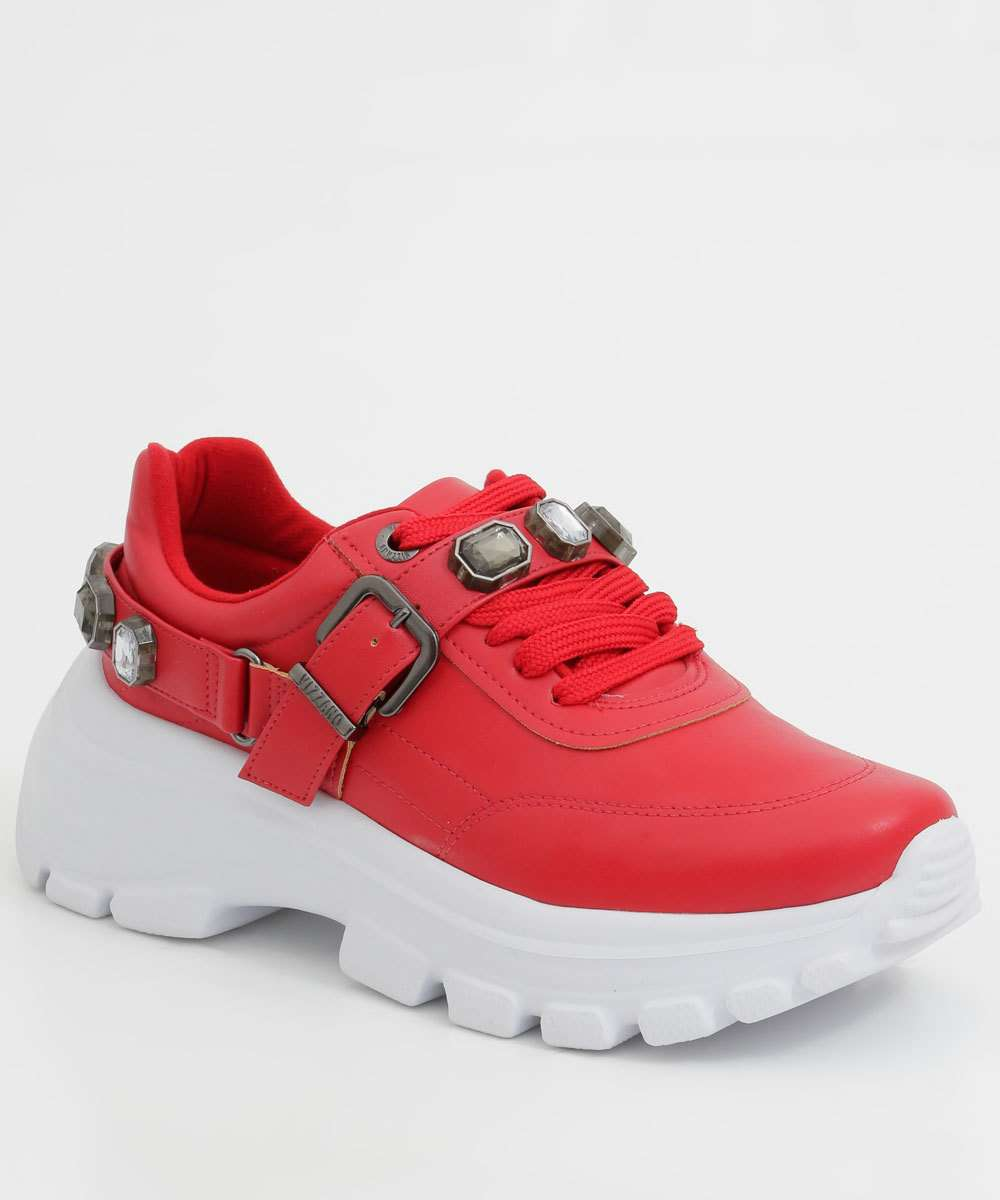 Tênis Feminino Chunky Sneaker Pedraria Vizzano