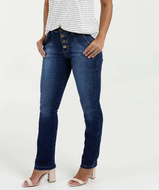 Image_Calça Feminina Jeans Skinny Botões Marisa