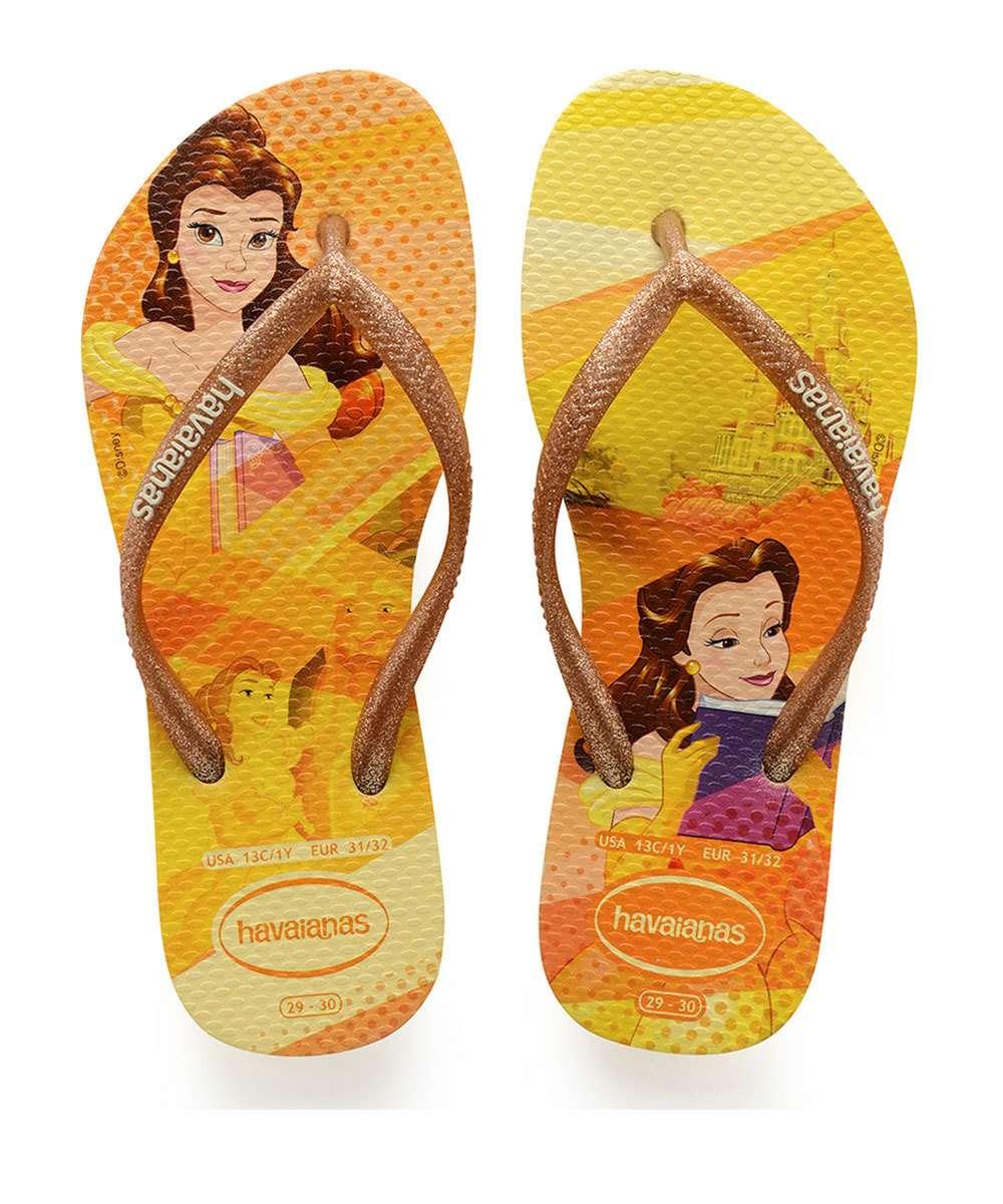 eeaae726e Chinelo Infantil Princesa Bela Disney Havaianas