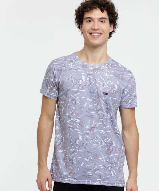 Image_Camiseta Masculina Floral Manga Curta Rock & Soda