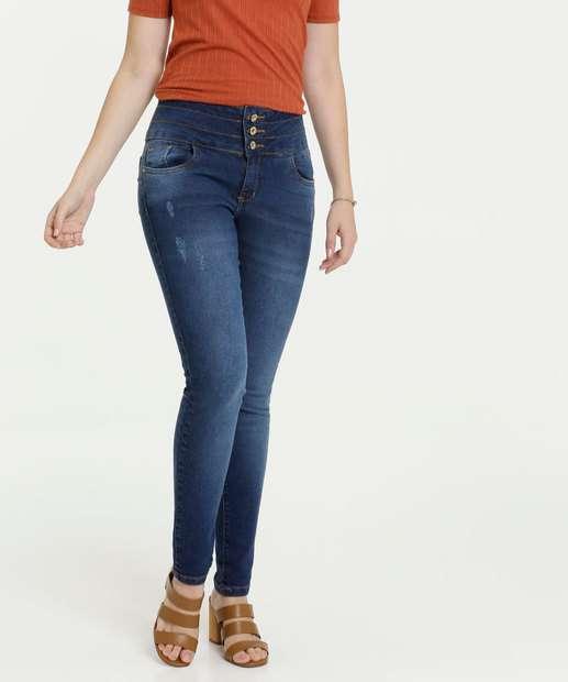 Image_Calça Jeans Skinny Feminina Puídos