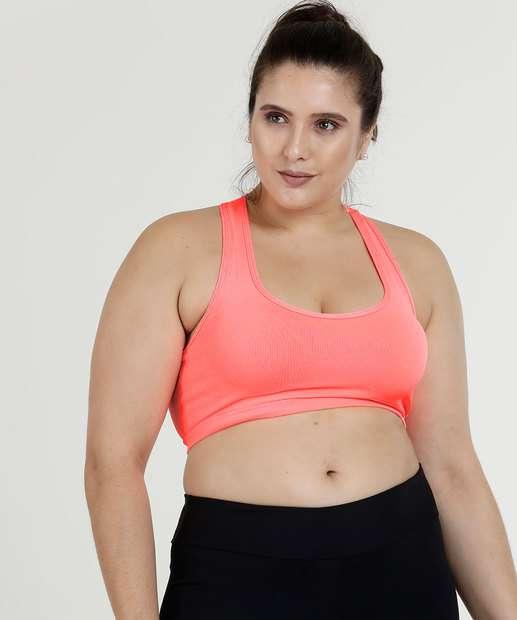 8d5032bf2 Top Feminino Fitness Neon Nadador Plus Size Marisa