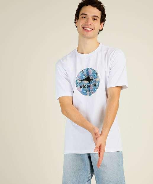 Image_Camiseta Masculina Estampa Tropical Manga Curta Nicoboco