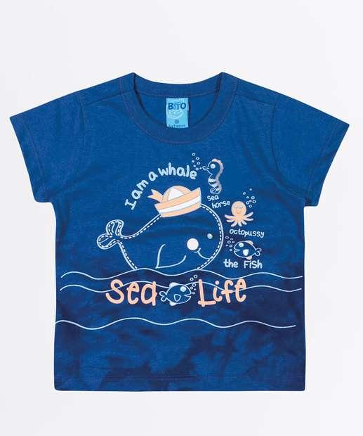 Image_Camiseta Infantil Bebê Estampa Baleia Manga Curta