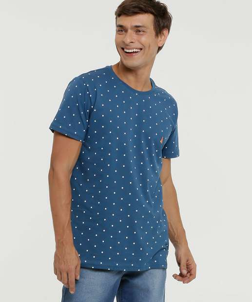 Image_ Camiseta Masculina Estampa Bolinhas Rock & Soda