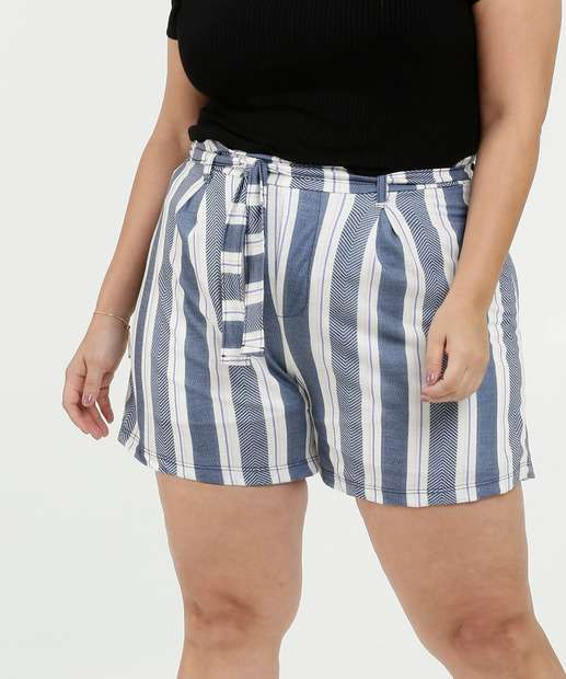 Image_Short Feminino Listrado Clochard Plus Size