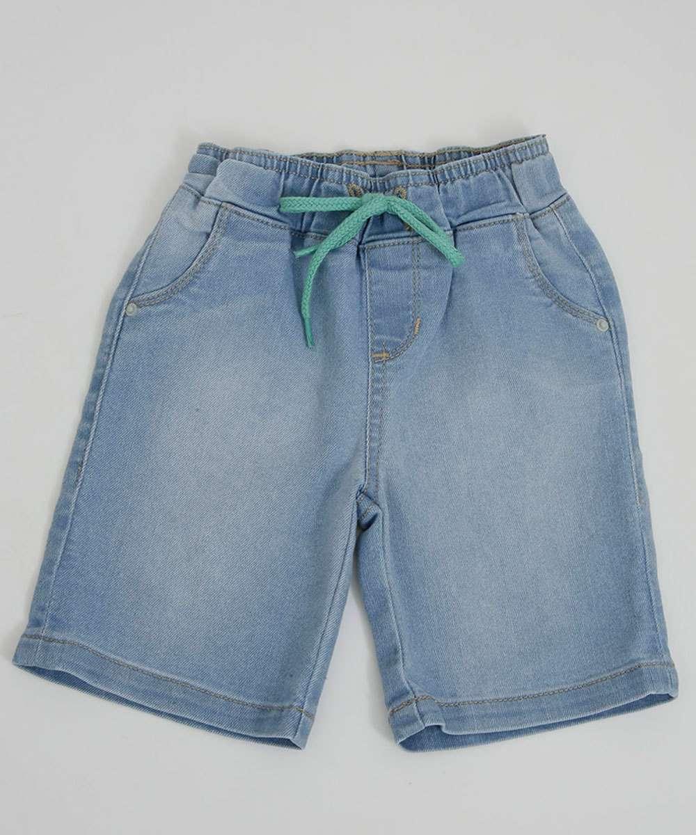 Bermuda Infantil Jeans MR Tam 1 a 4