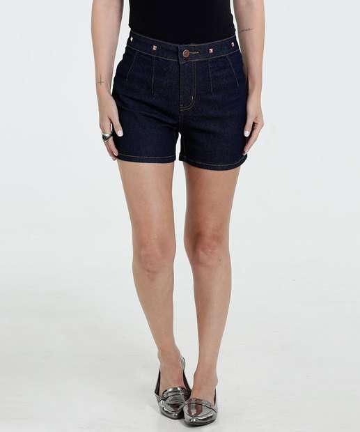 Image_Short Feminino Jeans Stretch Spikes Marisa