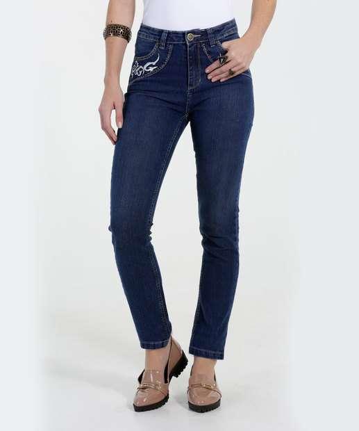 Image_Calça Jeans Skinny Bordado Cintura Alta Marisa