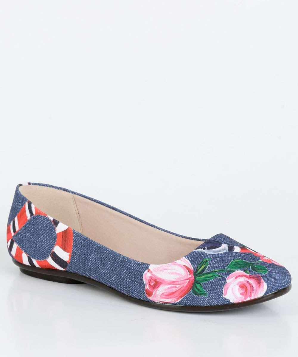 Sapatilha Feminina Estampa Floral Moleca 5094399