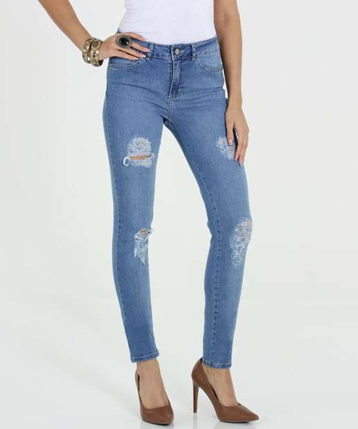 Image_Calça Feminina Jeans Destroyed Skinny Gups