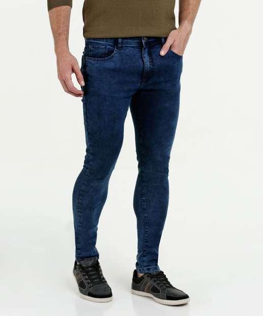 698556a1f Calça Masculina Jeans Skinny Stretch Marisa