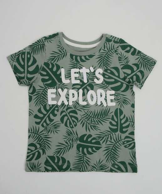 Image_Camiseta Infantil Estampa Folhas MR Tam 1 a 4