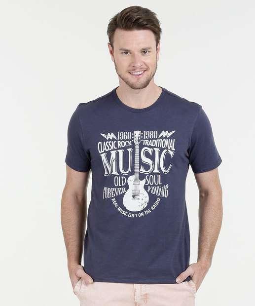 Image_Camiseta Masculina Estampa Rock Manga Curta Marisa
