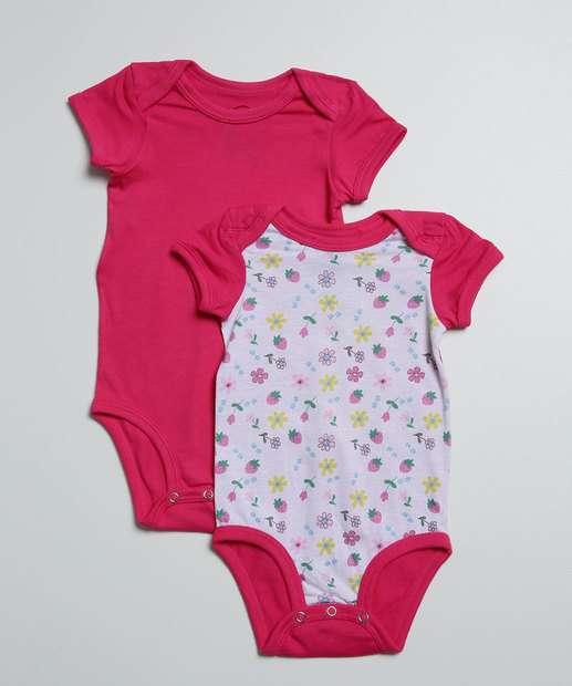 Image_Kit 2 Body Infantil Bebê Floral Eco Sustentável DelRio