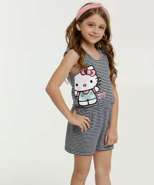 Image_Macaquinho Infantil Estampa Hello Kitty Sem Manga Sanrio
