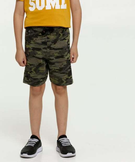 Image_Bermuda Infantil Moletinho Estampa Camuflada