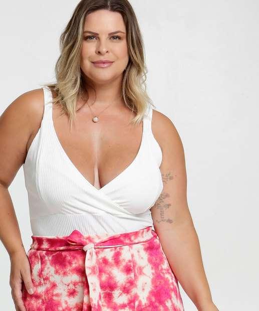 Image_Blusa Feminina Canelada Plus Size Alças Finas