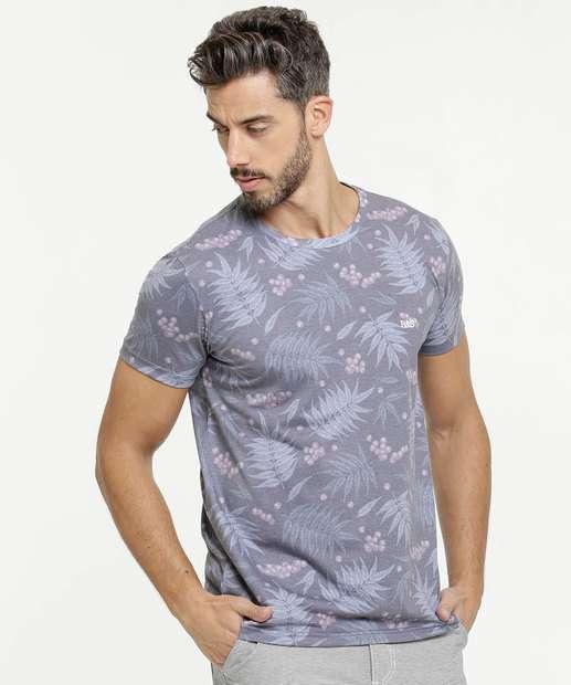 Image_Camiseta Masculina Estampa Folhas Manga Curta Rock & Soda