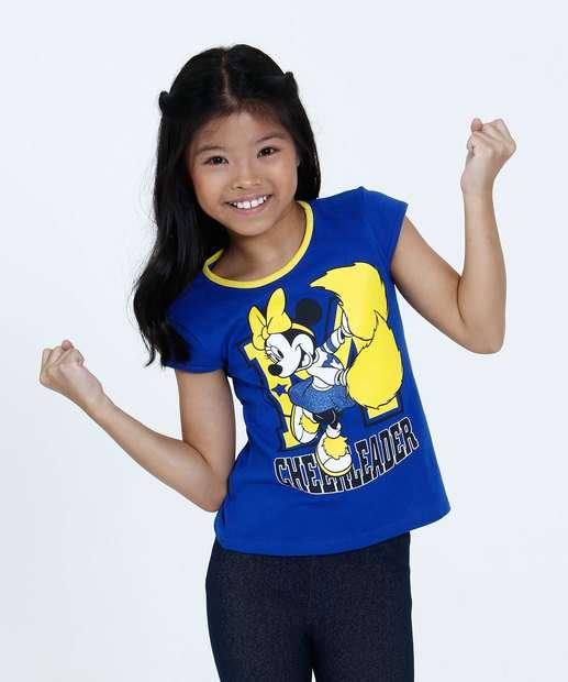 Image_Blusa Infantil Estampa Minnie Brasil Manga Curta Disney