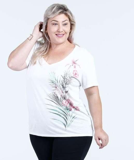 Image_Blusa Feminina Malha Floral Flores Plus Size Texarte