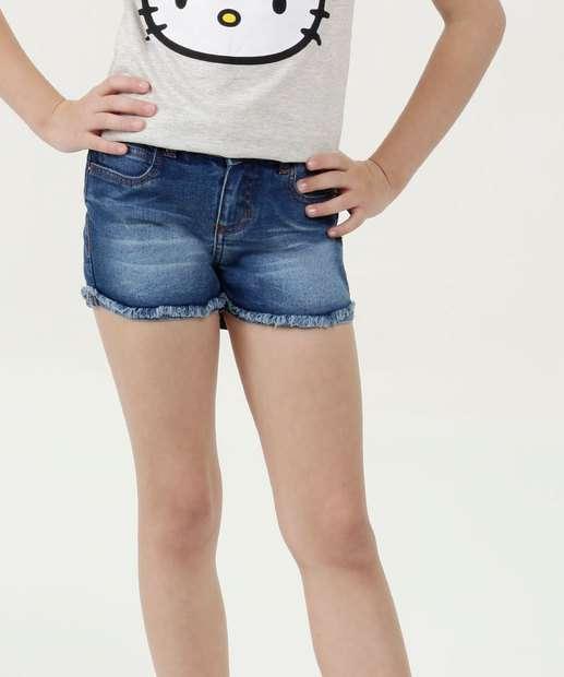 Image_Short Infantil Jeans Stretch Barra Desfiada Marisa