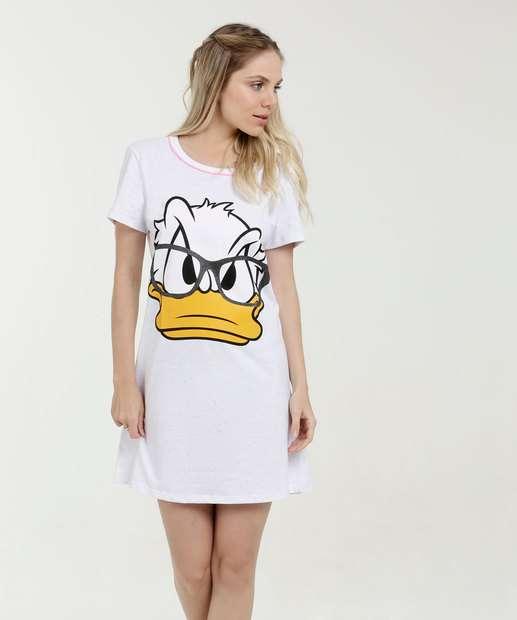Image_ Camisola Feminina Estampa Pato Donald Manga Curta Disney