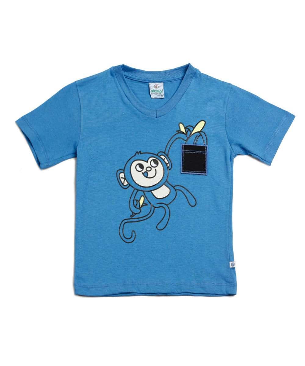 Camiseta infantil estampa macaco Abrange