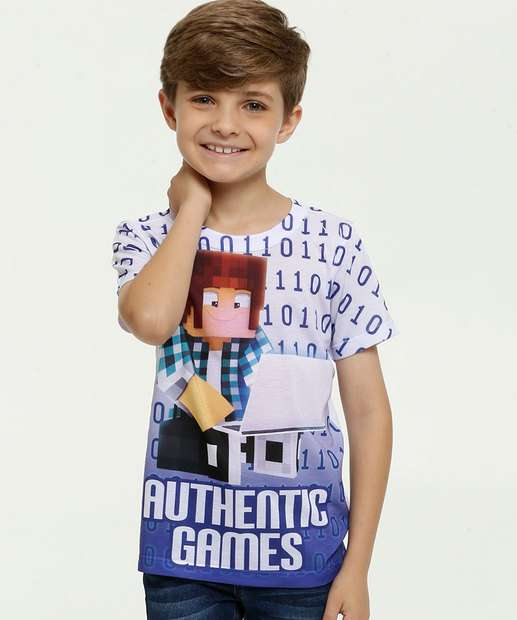 Image_Camiseta Infantil Estampada Authentic Games