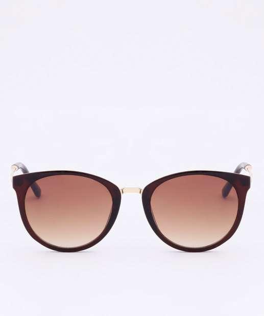 Image_Óculos de Sol Feminino Redondo Metalizado Marisa