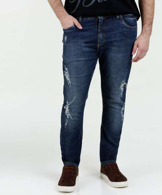 Image_Calça Masculina Jeans Destroyed Plus Size Razon