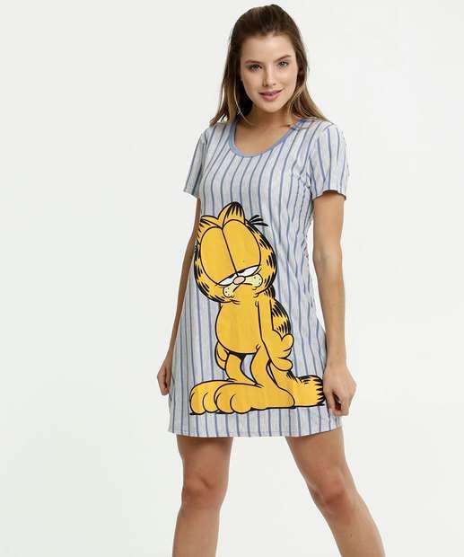 Image_Camisola Feminina Estampa Garfield Manga Curta