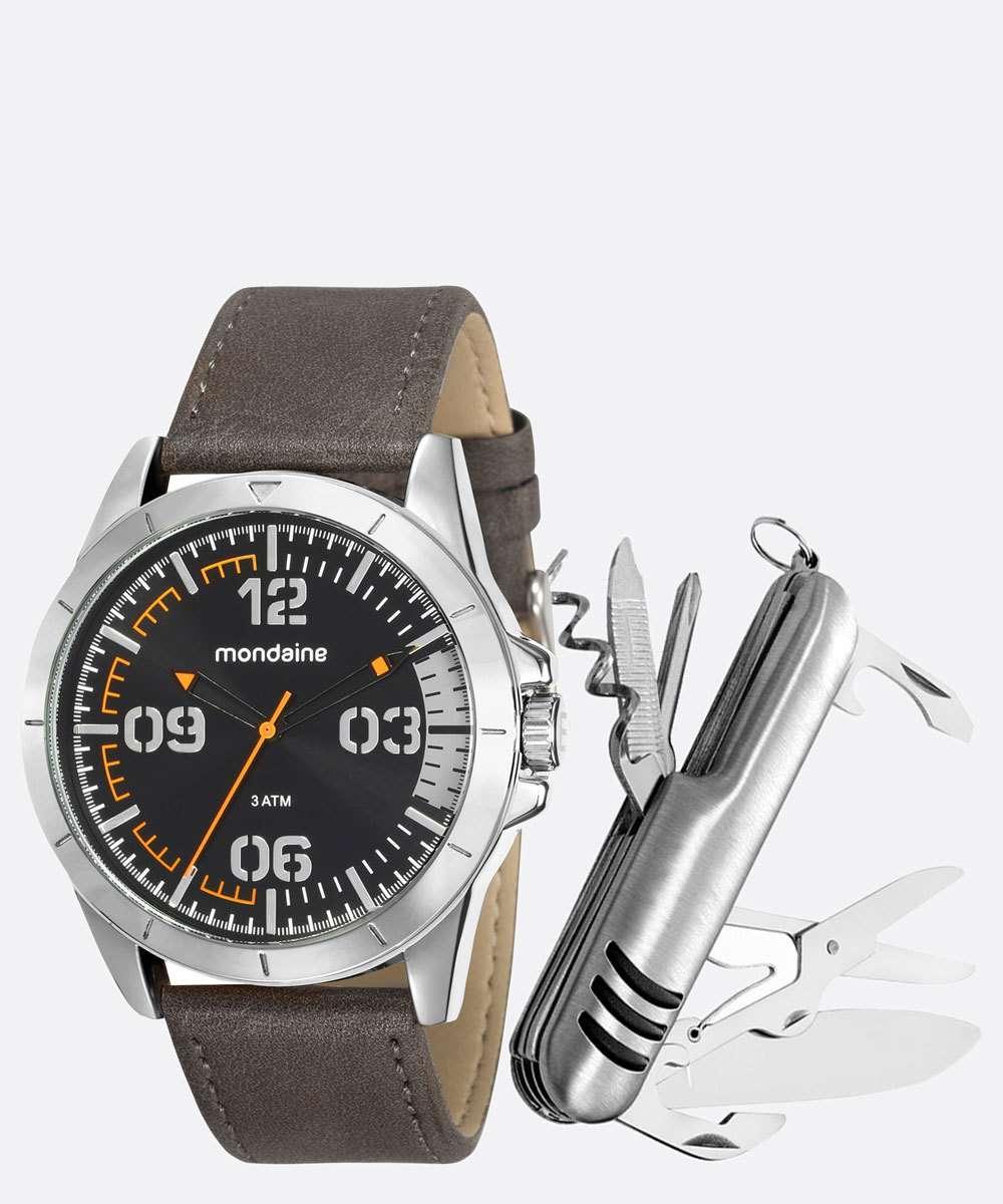 Kit Relógio Masculino Mondaine 76702G0MVNH3K1