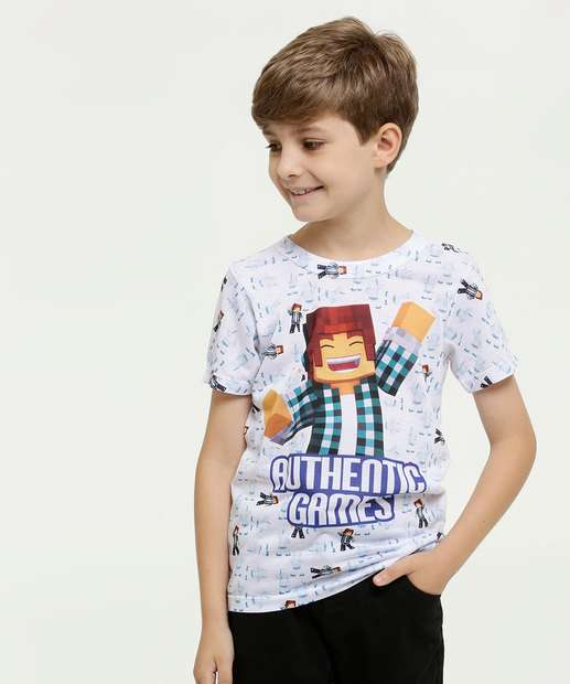 Image_Camiseta Infantil Estampa Minecraft Authentic Games