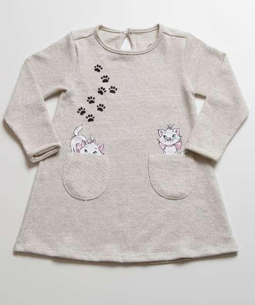 Image_Vestido Infantil Estampa Marie Manga Longa Disney