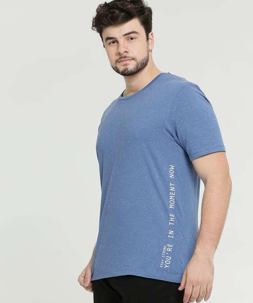 Image_Camiseta Masculina Botonê Plus Size Manga Curta