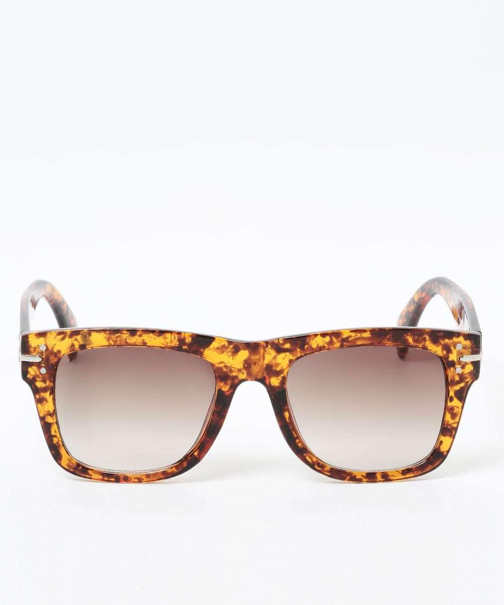 Óculos de Sol Feminino Estampa Animal Print Quadrado Marisa