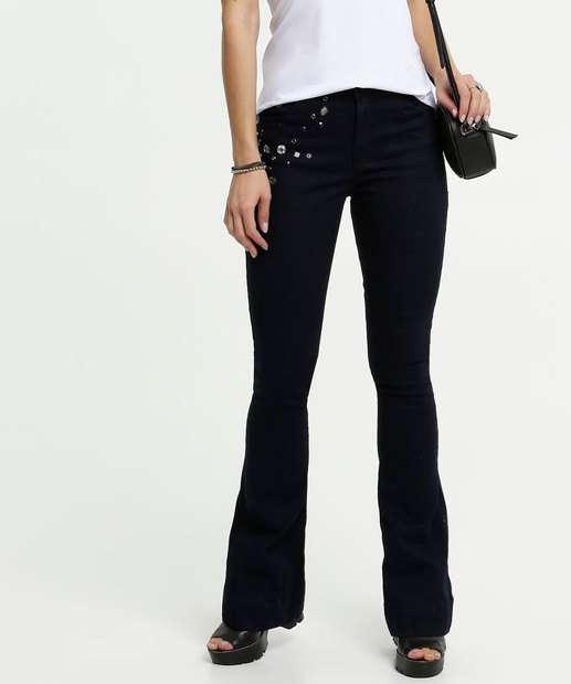 Image_Calça Feminina Flare Pedrarias Zune Jeans By Sabrina Sato