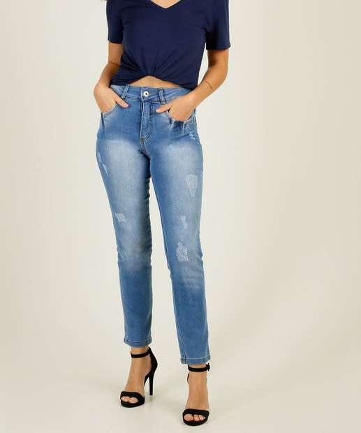 Image_Calça Jeans Puídos Skinny Feminina Bolsos Biotipo