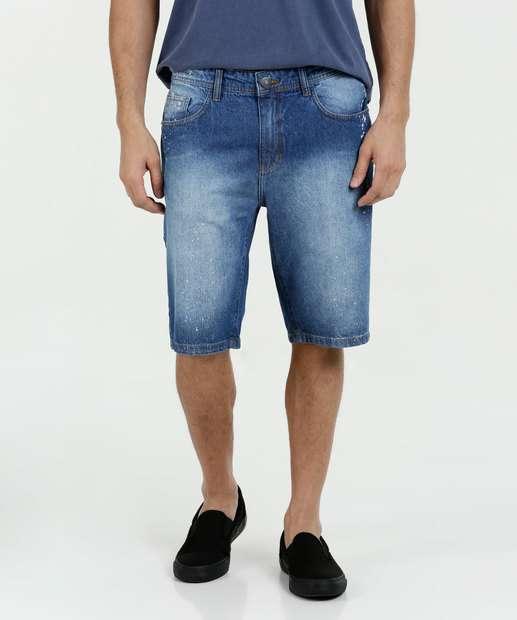 Image_Bermuda Masculina Jeans Manchada Marisa
