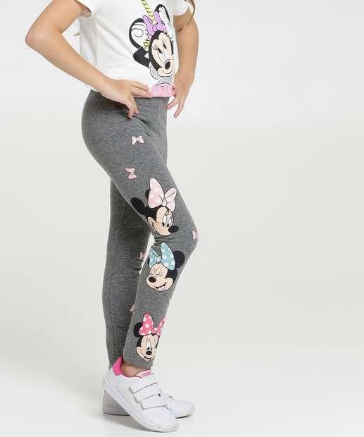 Image_Calça Infantil Legging Estampa Minnie e Mickey Disney