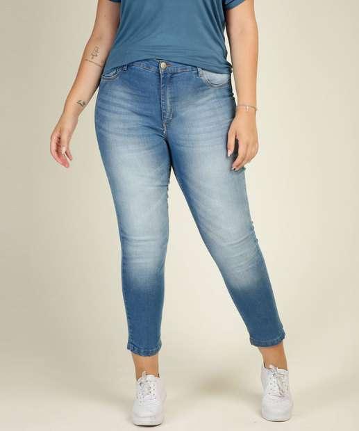 Image_Calça Plus Size Feminina Jeans Cigarrete Razon
