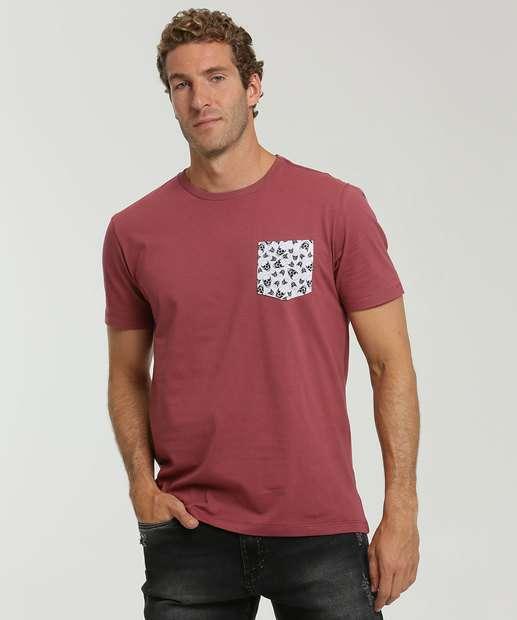 Image_Camiseta Masculina Bolso Estampa Caveira MR