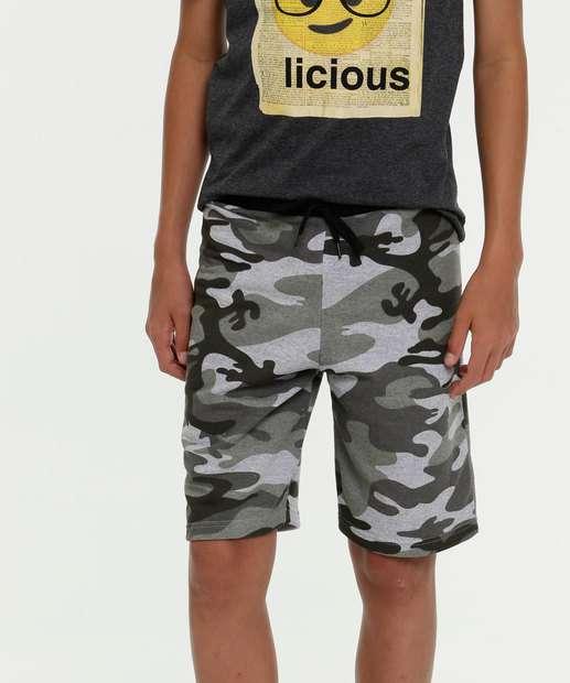 Image_Bermuda Juvenil Moletinho Estampa Camuflada