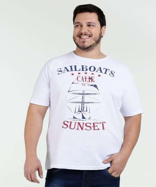 Image_Camiseta Masculina Estampa Barco Plus Size Águia Tex