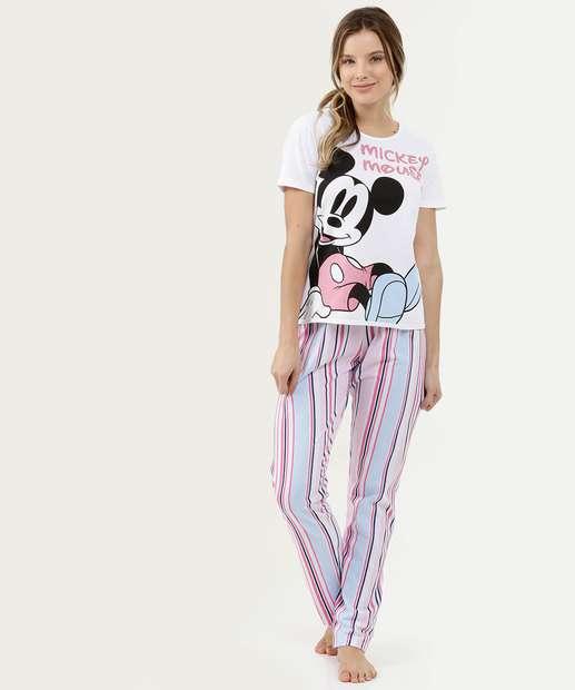 Image_Pijama Feminino Estampa Mickey Manga Curta Disney