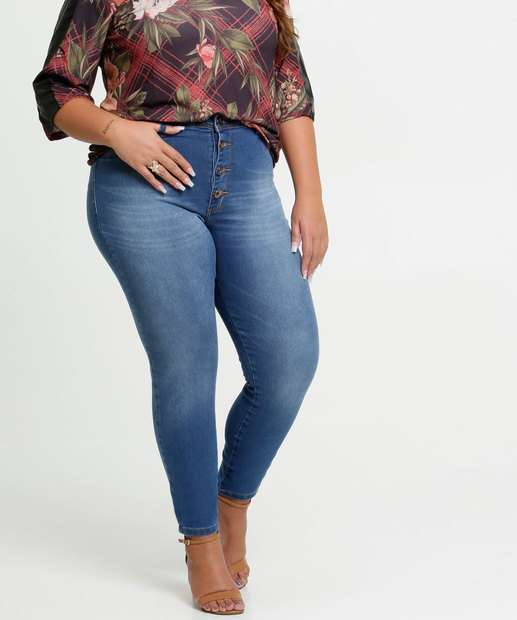 Image_Calça Jeans Cigarrete Bolsos Plus Size Razon